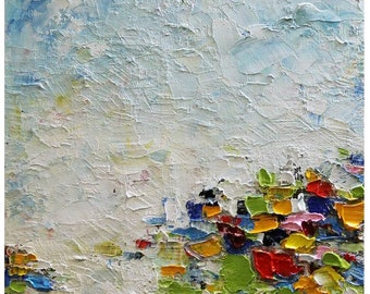 Oil Abstract  Painting Original Abstract Artwork Palette Knife Modern Art Art Painting Living Room Art Large Painting Gift for Her