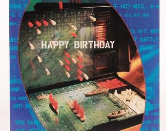 Good Move! Battleship Birthday Card and Envelope by OZ & Hasbro