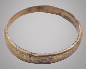 Authentic Ancient Viking  wedding Ring, medieval ring, wedding band, wedding ring  C.866-1067A.D. Size 8 1/4   (18.4mm)(Brr867)