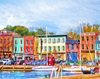 Fell's Point, Baltimore, Historic Waterfront, Sailboats, Thames Street, Maryland, Cat's Eye Pub, Historic Buildings, Colorful Buildings
