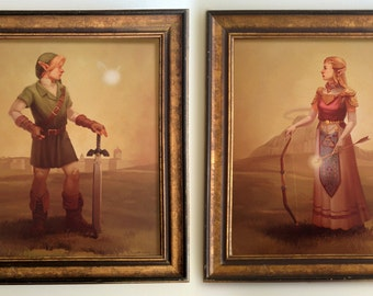 Link and Zelda print combo