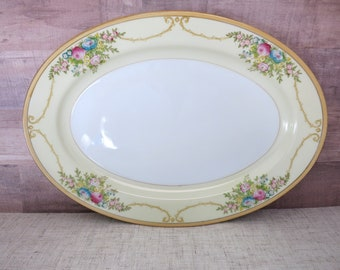 Meito China 12 Inch Oval Platter Vintage Meito China Platter, Vintage China Platter, Handpainted Meito China, Meito N1065A, MEIN1065A - V339