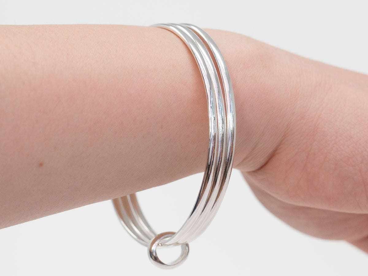 essentially golf bangle round sterling products silver jewelry bangles plain
