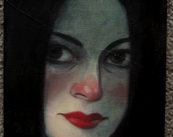 "Original Oil Painting ""They Could Not Hide Her Away"" by Amy Abshier Reyes"