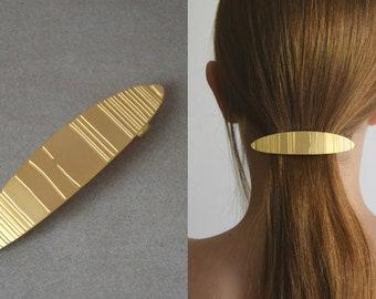 Hair barrette, Hair accessories, Gold barrette, Ponytail holder, Hair Jewelry, Gold hairpin, Hair clip, Hair care, Hair pin, Gold hair clip