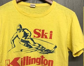 M vintage 70s SKI Killington Vermont t shirt