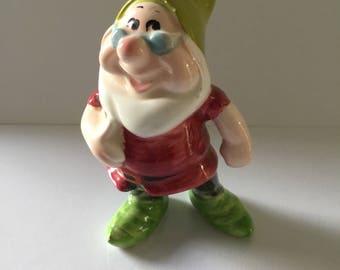 Vintage Disney Snow White and the seven dwarfs DOC, Ceramic figure