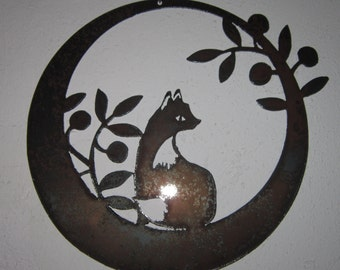 Fox in The Olives-Metal Art- Steel Art- Metal Wall Art- Metal Decor- Wall Art- Metal Home Decor