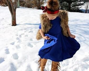 Girls Royal Blue Dress, Blue Dress, Girl Dresses, Dresses, Twirly Blue Dress, Girls Clothing  Sizes 2/3, 4/5, 6/6X, 7/8, 10/12 Ready to Ship