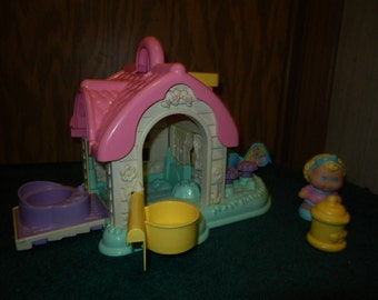 Playskool Portable Dollhouse with doll and bottle