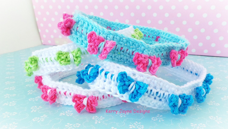 Butterfly Headband Crochet Pattern - Butterfly Parade - Childrens ...