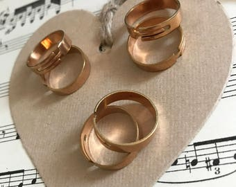 1 - Rose gold adjustable rings