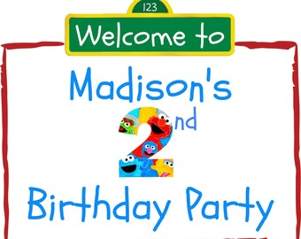 Sesame Street Party Sign!