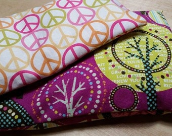 Hippy Dippy! Natural Heating Pad & Eye Pillow Gift Set Scented with Natural Essential Oils and Herbs), Custom Fabric, Custom Size Available