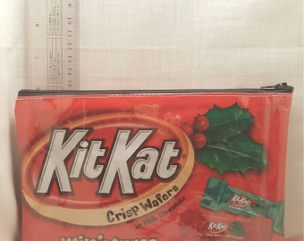 kit kat upcycled zipper bag