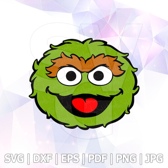 oscar the grouch sesame street vector layered svg cut file rh etsy com oscar the grouch clip art or printouts oscar the grouch clipart black and white