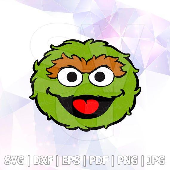 oscar the grouch sesame street vector layered svg cut file rh etsy com free oscar the grouch clip art