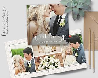 12x12 Wedding Album Photoshop Template, Photo Album for Pro Photographers, Photobook Template