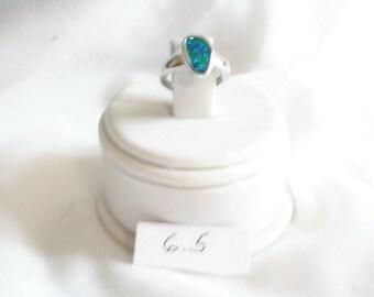 On Sale! SS  Opal Ring -Sz: 6.5