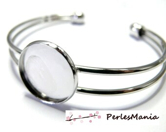 1 bracelet 14mm silver quality holder Platinum collage digital and jewelry making