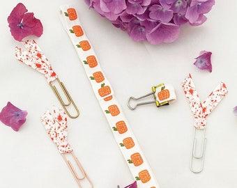 Halloween Planner Accessories// pumpkin //pen holder //clip