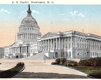 Washington DC, US Capitol - Vintage Postcard - Postcard - Unused (III)