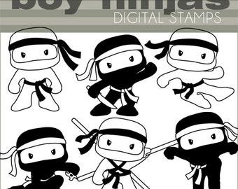 ninja clipart | etsy