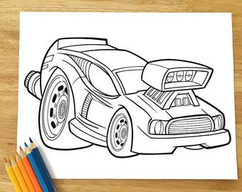 Cool Car Coloring Page! Downloadable PDF file!