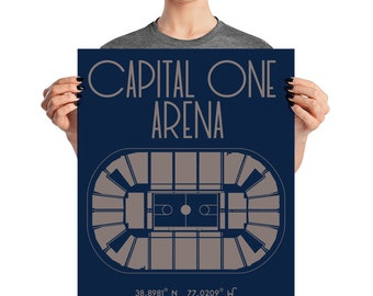 Georgetown University Basketball Capital One Arena Poster