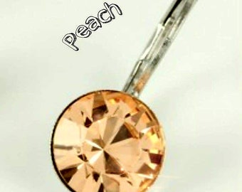 PEACH CRYSTALIZED Swarovski element earrings