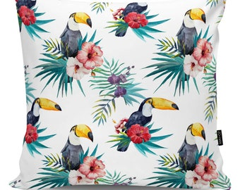 Decorative pillow Toucans