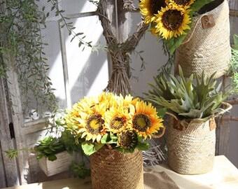 Silk sunflower sun flower home decoration 1 bunch 7pcs artificial flowers silk flower