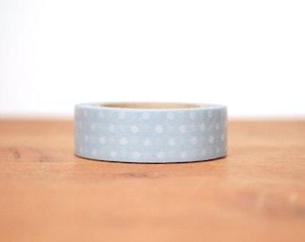 washi tape: grey and white polka dots
