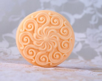 Round Floral Mold Soap Mold Flexible Silicone Mold Candy Mold Chocolate Mold Soap Mold Polymer Clay Mold Resin Mold R0268