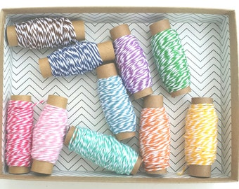 50 yards spool Bakers Twine - Cotton twine made in USA