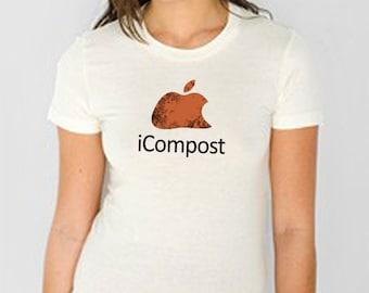 Mac T Shirt - Parody - Spoof - iCompost- Organic American Apparel