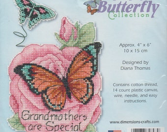 Dimensions Counted Cross Stitch Butterfly Collection Grandmothers Are Special