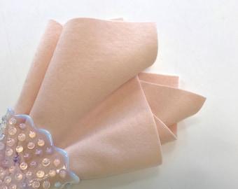 Wool Felt, Pure Merino Wool, Pearl, Skin Tone, Doll Body Supply, Felt Flower Supply, Applique, Pale Pink, Choice of Size