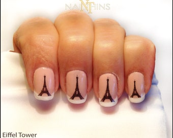 Eiffel Tower Nail Decal Paris nail art Eiffel nail wrap design by NAILTHINS
