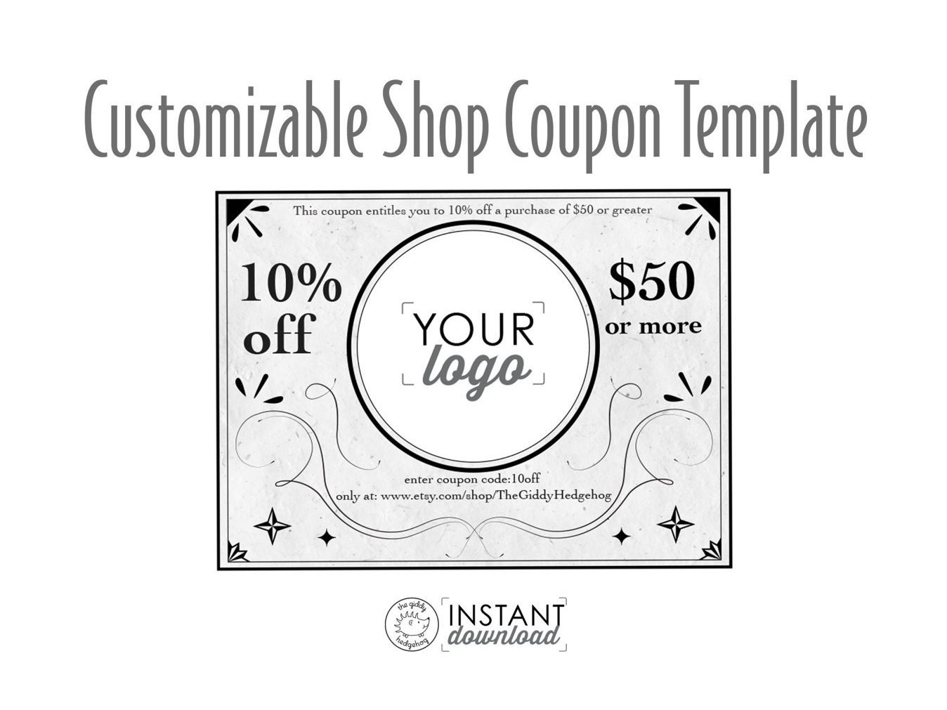 Vintage Style Printable Coupon, Personal Coupon, Coupon Template ...
