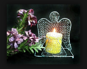 Angle candle holder - wire candle holder - candle holder - rustic candle holder -metal candle holder -  # 11