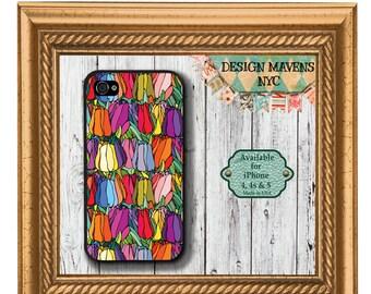 Colorful Tulips iPhone Case, Floral iPhone Case, Flowers iPhone Case, iPhone 8, 8 Plus, iPhone 7,  7 Plus, iPhone 6, 6s, 6 Plus, SE, 5s, 5c