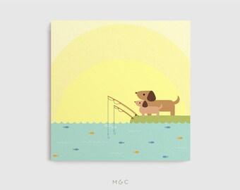 Darby + Dot™ - Fishing Adventure - Canvas Art Print