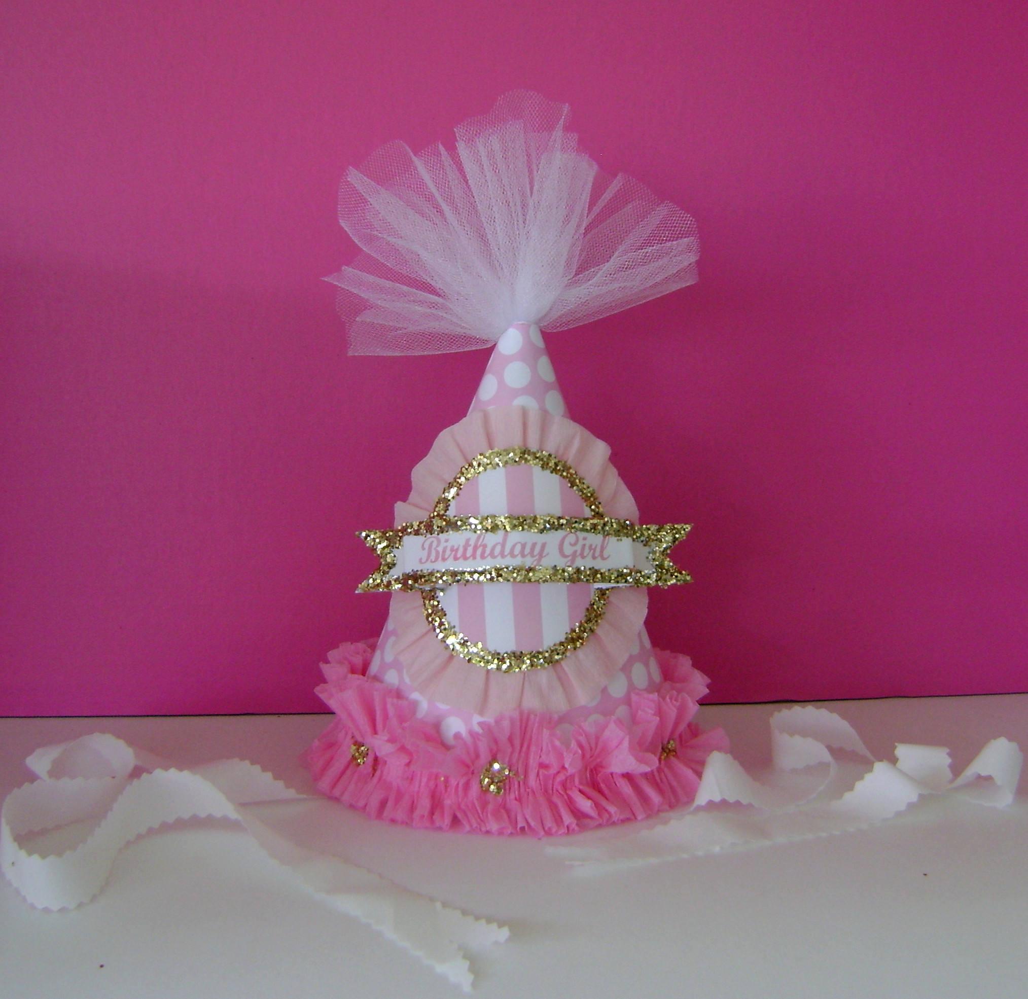 Birthday Hat Small cone birthday hat Birthday Girl Hat