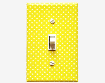 Yellow decorative light switch plate cover Girls bedroom, Kitchen wall decor, Bathroom and Office decor