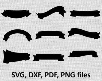 Banner SVG / Banner DXF / Banner silhouette Clipart/ Svg Files, printing design, cutting, png, pdf, DXF, Banner vector, Banner, ribbon svg