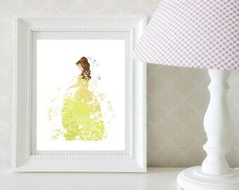 Belle Disney Princess Splatter Print