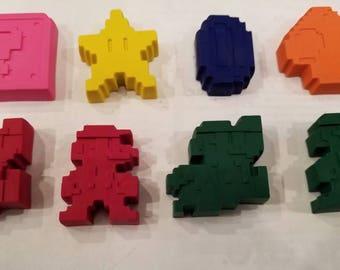 Super Mario Crayon Favors/Birthday/Easter