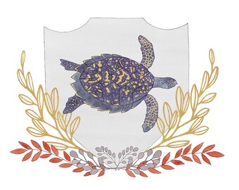 Hawksbill Turtle print