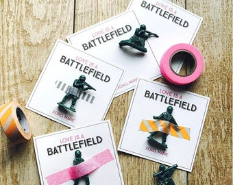 Instant Downloadable Valentine: Love is a Battlefield